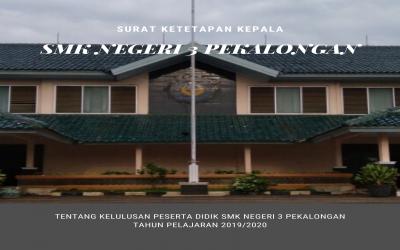 SK Kepala Sekolah tentang Penetapan Kelulusan Peserta Didik SMK Negeri 3 Pekalongan